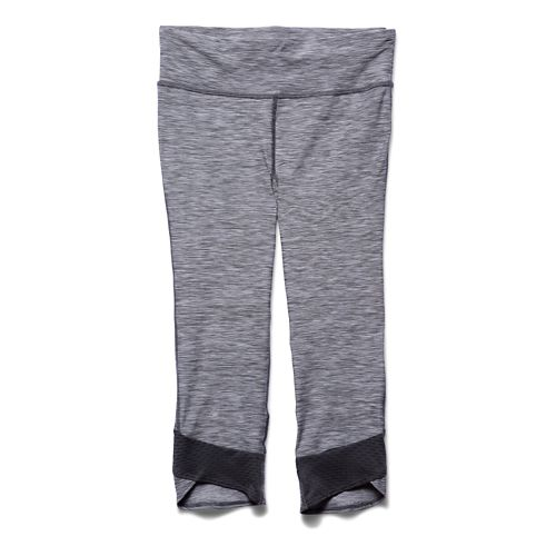 Womens Under Armour Fly by Textured Capri Tights - Phantom Grey L