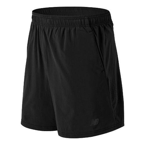 Mens New Balance 7'' Performance Woven 2-in-1 Shorts - Black S
