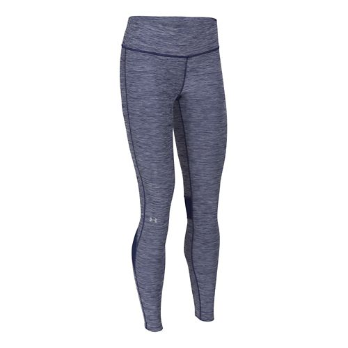 Womens Under Armour Fly-by Textured Legging Full Length Tights - Europa Purple S