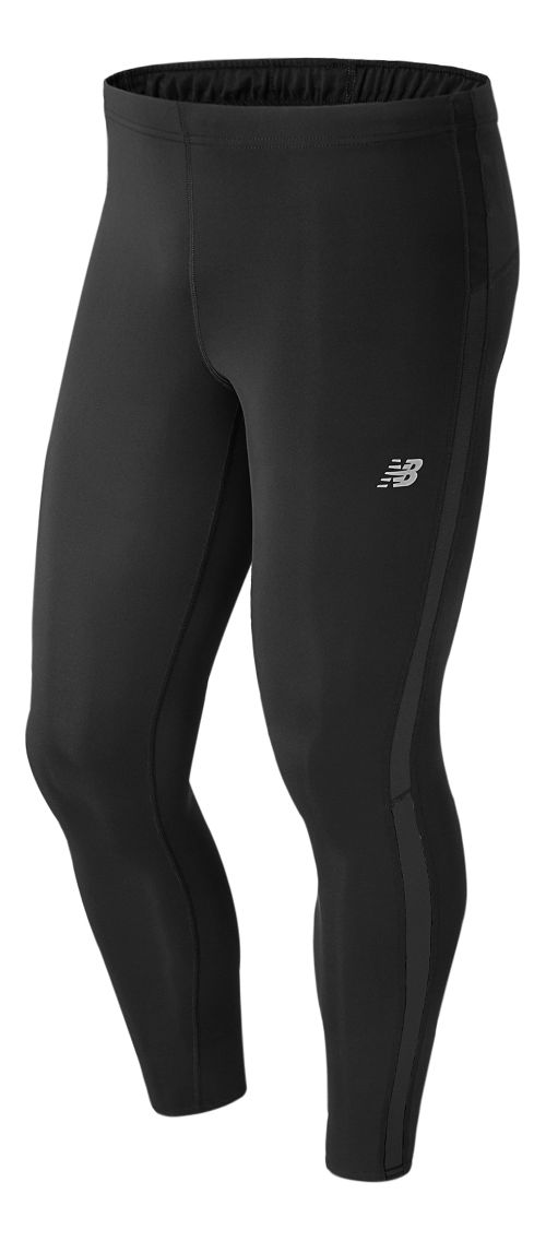 Mens New Balance Accelerate Compression Tights - Black L