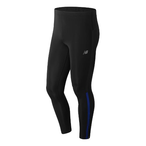Mens New Balance Accelerate Leggings Tights - Marine Blue L