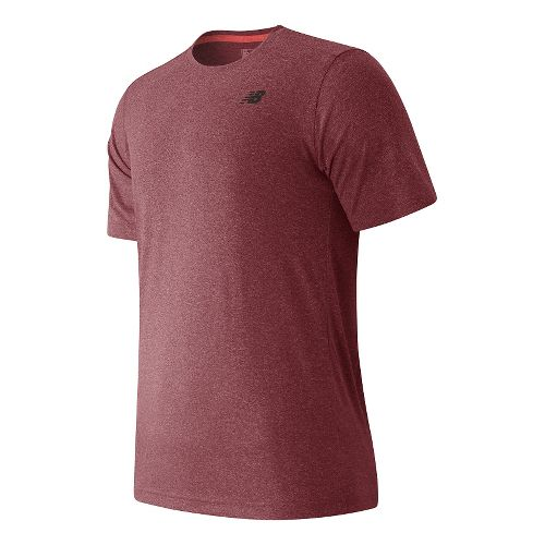 Mens New Balance Heather Tech Tee Short Sleeve Technical Tops - Sedona Heather S