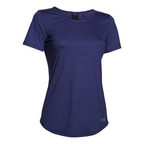 Womens Under Armour Charged Wool Shortsleeve Technical Tops - Europa Purple M