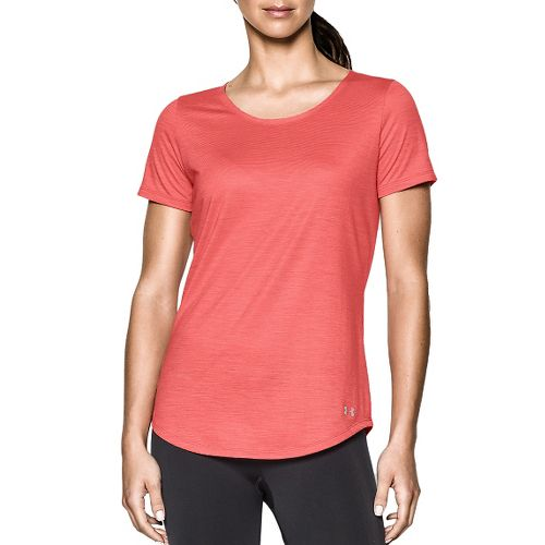 Womens Under Armour Charged Wool Shortsleeve Technical Tops - Coho L