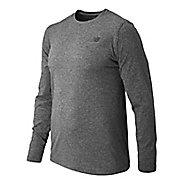 Mens New Balance Heather Tech Tee Long Sleeve Technical Tops
