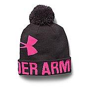 Womens Under Armour Graphic Pom Pom Beanie Headwear