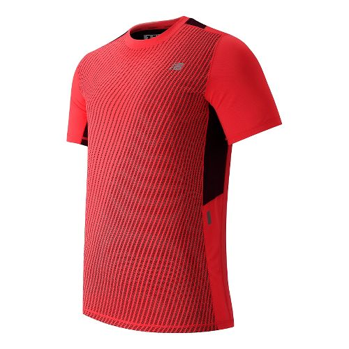 Mens New Balance NB Ice Short Sleeve Technical Tops - Flame L