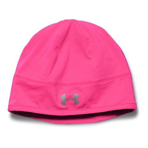 Womens Under Armour Layered Up! Beanie Headwear - Pink/Reflective