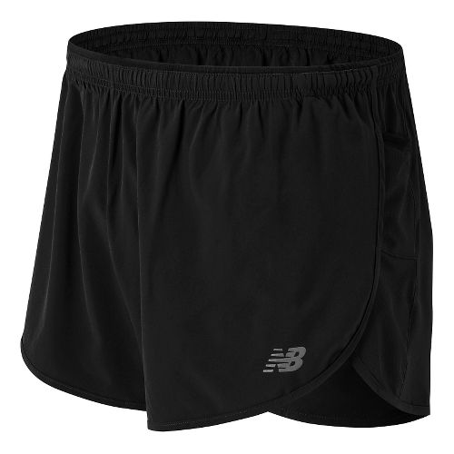 Mens New Balance Impact 3 Split Shorts - Black XL