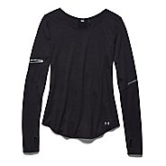 Womens Under Armour Charged Wool Long Sleeve No Zip Technical Tops