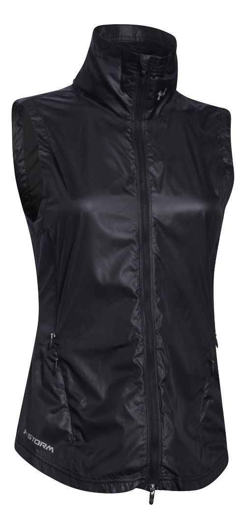 Womens Under Armour Storm Layered Up Vests Jackets - Black/Black XS