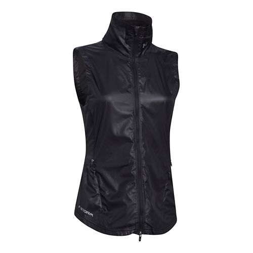 Womens Under Armour Storm Layered Up Vests Jackets - Black/Black L