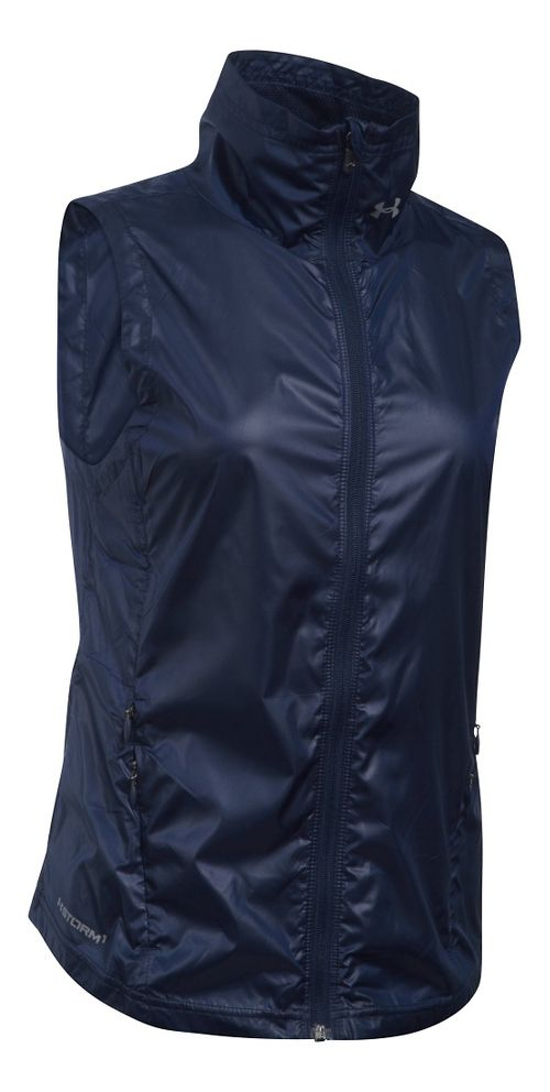 Womens Under Armour Storm Layered Up Vests Jackets - Midnight Navy M