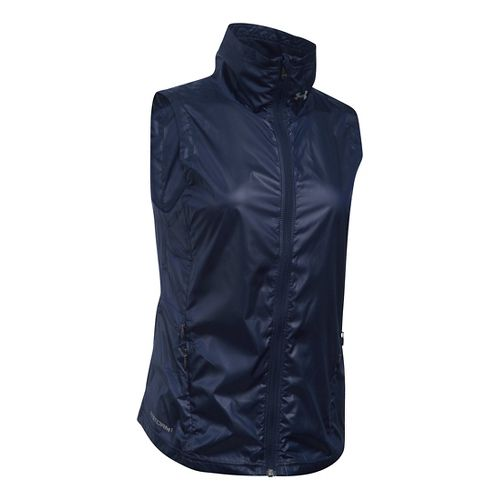 Womens Under Armour Storm Layered Up Vests Jackets - Midnight Navy XS