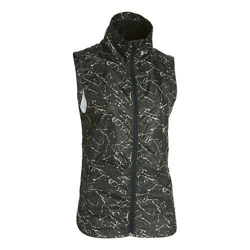 Womens Under Armour Storm Layered Up Printed Vests Jackets - Black/Black M