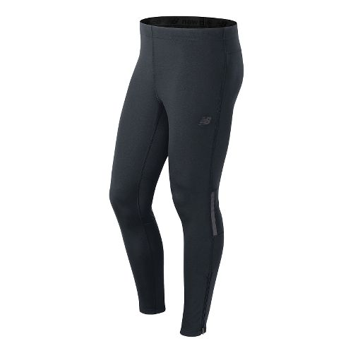 Mens New Balance NB Heat Full Length Tights - Thunder M