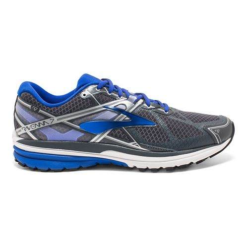 Mens Brooks Ravenna 7 Running Shoe - Anthracite/Blue 11.5