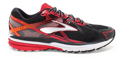 Mens Brooks Ravenna 7 Running Shoe - Black/High Risk Red 10