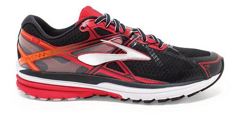 Mens Brooks Ravenna 7 Running Shoe - Black/High Risk Red 9.5