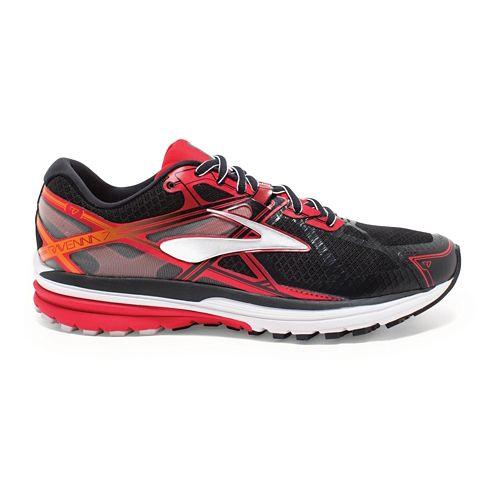 Mens Brooks Ravenna 7 Running Shoe - Black/High Risk Red 12