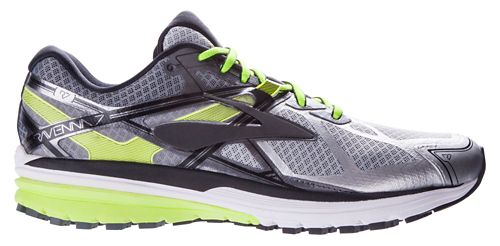 Mens Brooks Ravenna 7 Running Shoe - Silver/Neon 8.5
