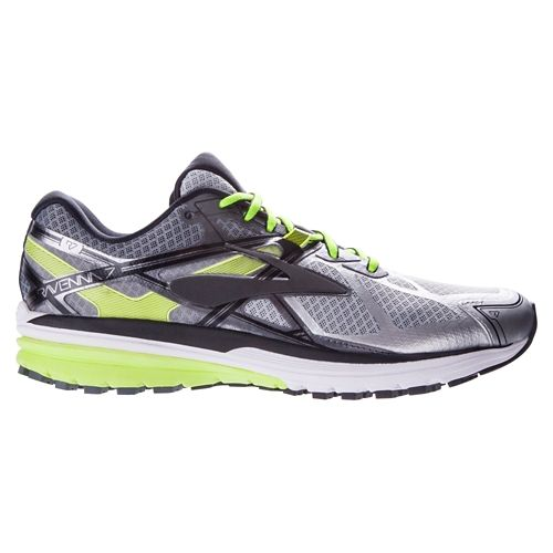 Mens Brooks Ravenna 7 Running Shoe - Black/High Risk Red 10