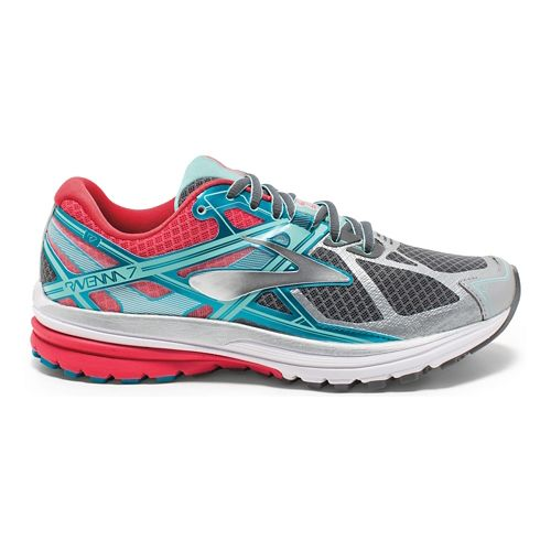 Womens Brooks Ravenna 7 Running Shoe - Silver/Pink 6.5
