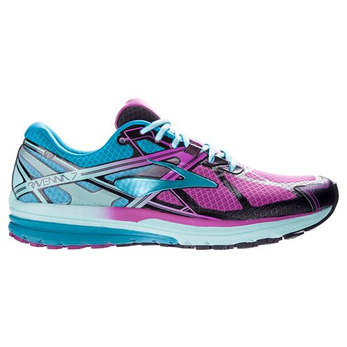 Womens Brooks Ravenna 7 Running Shoe - Orchid/Blue 6.5
