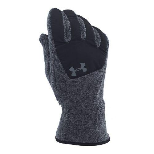 Mens Under Armour Survivor Fleece Glove Handwear - Black/Steel L