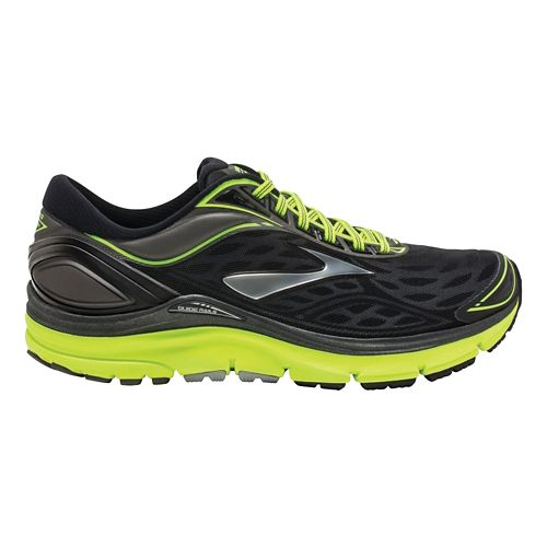 Mens Brooks Transcend 3 Running Shoe - Black/Neon 7.5