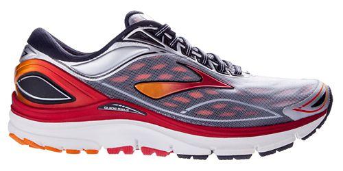 Mens Brooks Transcend 3 Running Shoe - Silver/Red 12.5