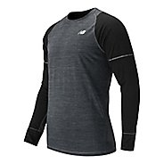 Mens New Balance Performance Merino Long Sleeve No Zip Technical Tops