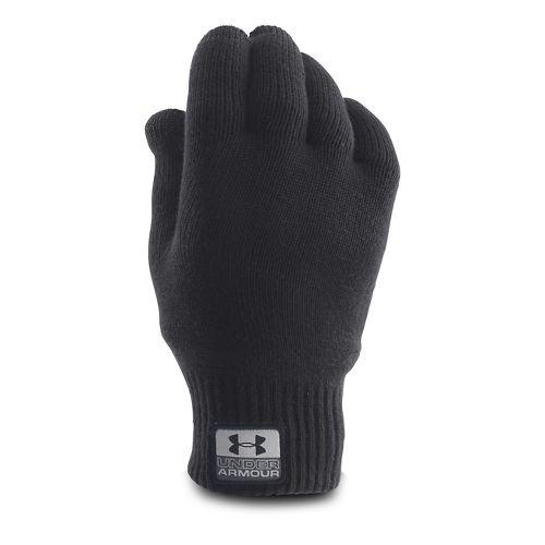 Mens Under Armour Fuse Knit Glove Handwear - Black S