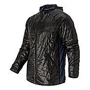 Mens New Balance NB Heat Hybrid Warm Up Hooded Jackets