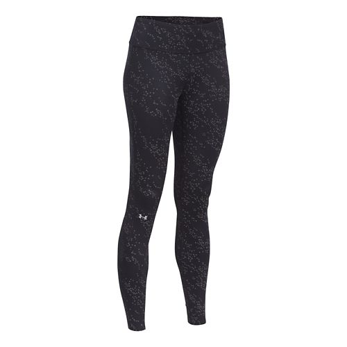 Womens Under Armour Fly By Luminous  Legging Full Length Tights - Black/Black M