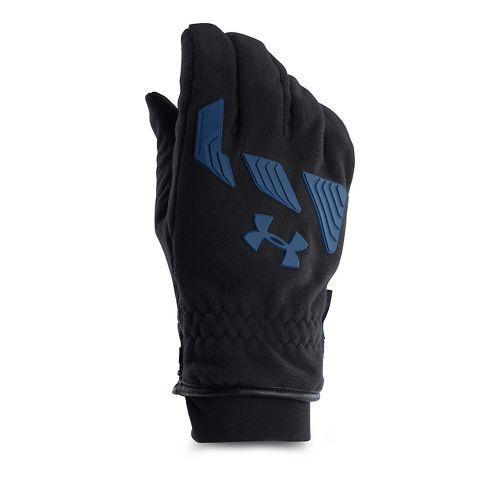 Mens Under Armour Coldgear Infrared Convex Glove Handwear - Black/Petrol Blue L