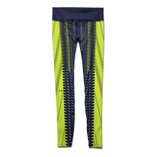Womens Under Armour Fly-By Engineered Printed Legging Full Length Tights - Blue Knight XS