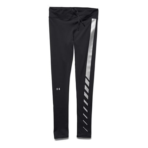 Womens Under Armour Aerial Speed Illumination Legging Full Length Tights - Black/Black M