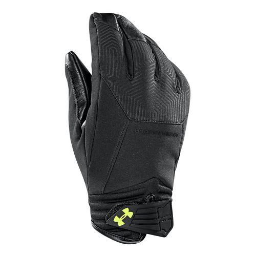 Mens Under Armour Coldgear Infrared Storm Elite Glove Handwear - Black/Yellow L