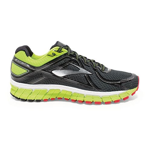Mens Brooks Adrenaline GTS 16 Running Shoe - Black/Neon 10