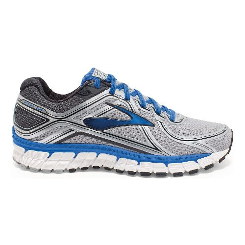 Mens Brooks Adrenaline GTS 16 Running Shoe - Silver/Blue 11.5