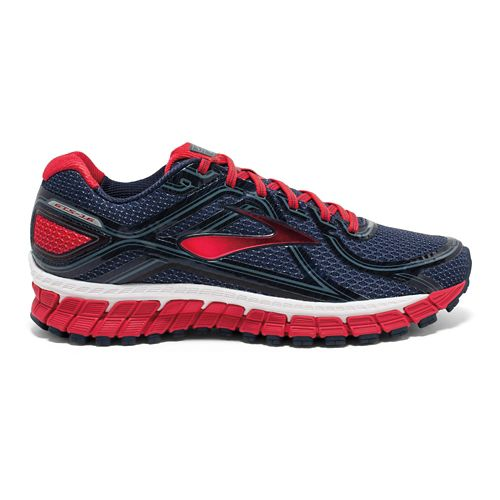 Mens Brooks Adrenaline GTS 16 Running Shoe - Navy/Red 9.5