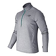 Mens New Balance Beacon Long Sleeve Half Zip Technical Tops