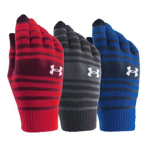 Under Armour Kids Chillz Stripe Glove 3 pack Handwear - Black/Royal/Red Y
