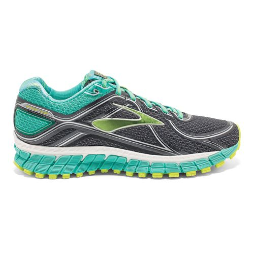 Womens Brooks Adrenaline GTS 16 Running Shoe - Anthracite/Aqua 9
