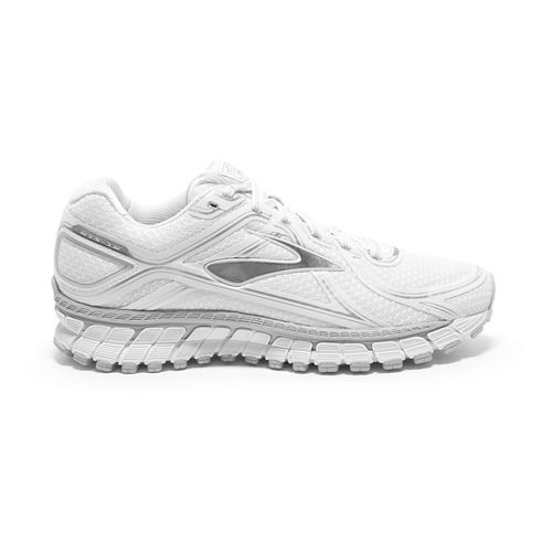Womens Brooks Adrenaline GTS 16 Running Shoe - White/Silver 5.5