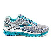 Womens Brooks Adrenaline GTS 16 Running Shoe - Silver/Blue 5
