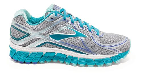 Womens Brooks Adrenaline GTS 16 Running Shoe - Silver/Blue 7