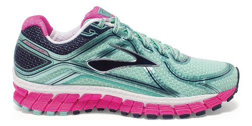 Womens Brooks Adrenaline GTS 16 Running Shoe - Mint/Pink 6