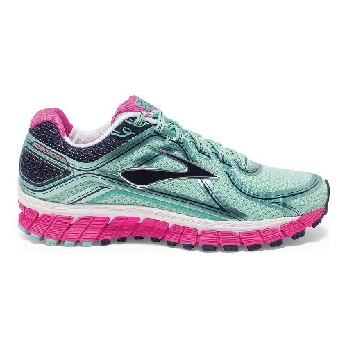 Womens Brooks Adrenaline GTS 16 Running Shoe - Mint/Pink 7